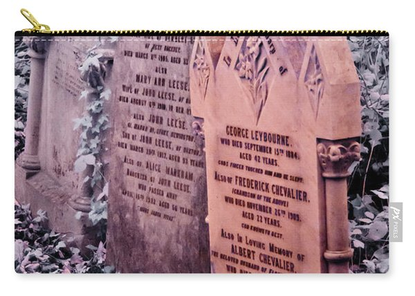 Music Hall Stars At Abney Park Cemetery Carry-all Pouch