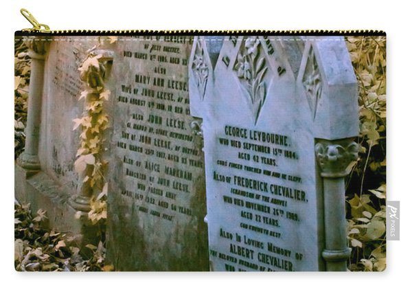 Infrared George Leybourne And Albert Chevalier's Gravestone Carry-all Pouch