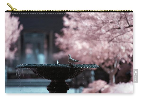 Carry-all Pouch featuring the photograph Infrared Morning Dove by Brian Hale