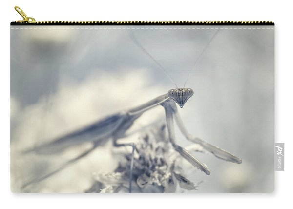 Carry-all Pouch featuring the photograph Infrared Praying Mantis 2 by Brian Hale