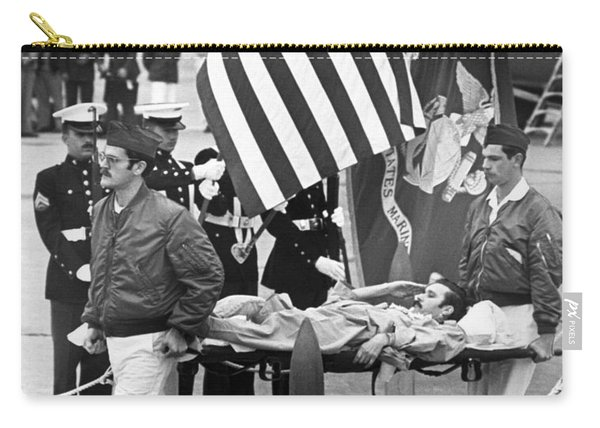 Injured Pow Salutes Flag Carry-all Pouch