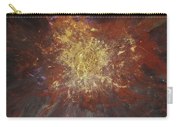 Carry-all Pouch featuring the painting Inner Fire by Michael Lucarelli