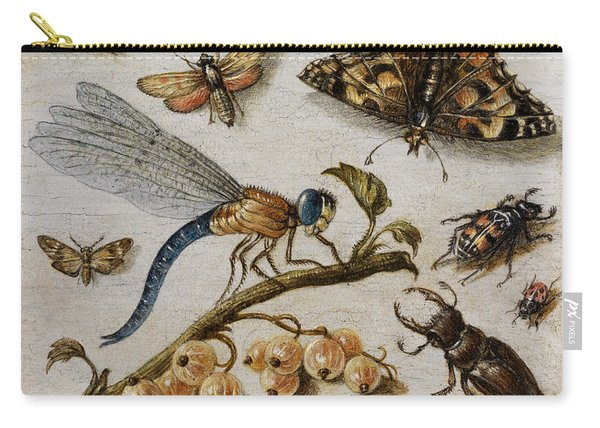Insects, Currants And Butterfly Carry-all Pouch
