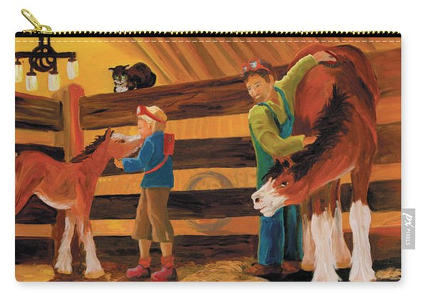Inside The Barn Carry-all Pouch