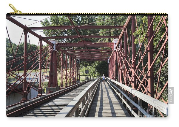 Inside The Bollman Truss Bridge At Savage Maryland Carry-all Pouch