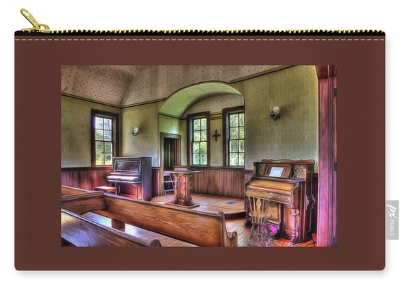 Inside The Oysterville Church  Carry-all Pouch