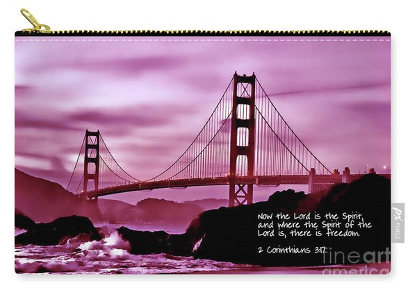 Inspirational - Nightfall At The Golden Gate Carry-all Pouch