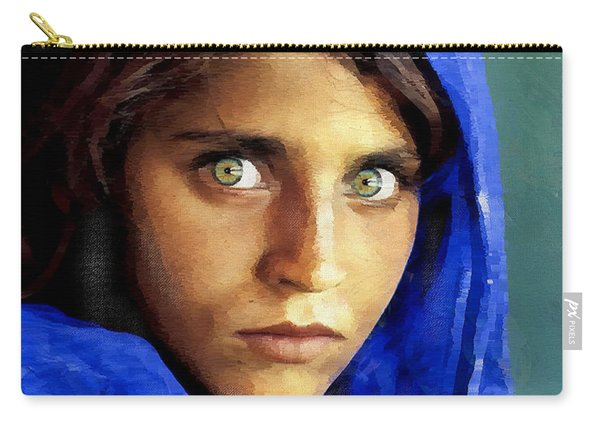 Inspired By Steve Mccurry's Afghan Girl Carry-all Pouch