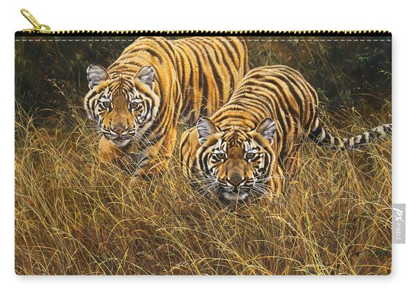 Carry-all Pouch featuring the painting Intent by Alan M Hunt