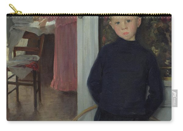 Interior With Women And A Child Carry-all Pouch