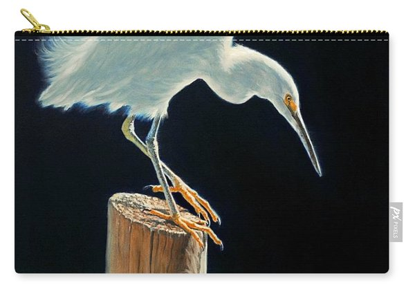 Interlude - Snowy Egret Carry-all Pouch