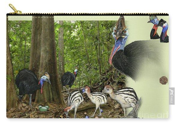 Zoo Nature Interpretation Panel Cassowaries Blue Quandong Carry-all Pouch