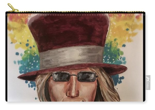 Carry-all Pouch featuring the painting Into The Great Wide Open by Joel Tesch