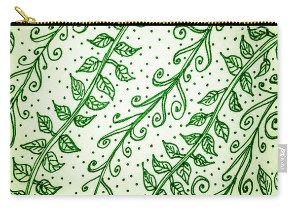 Into The Thick Of It, Green Carry-all Pouch