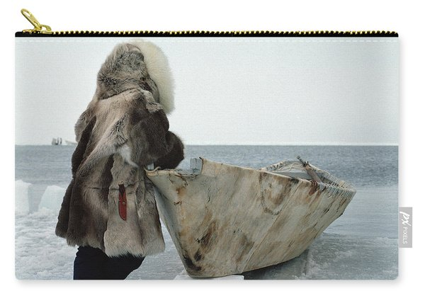 Inuit Hunter In Traditional Clothes Carry-all Pouch