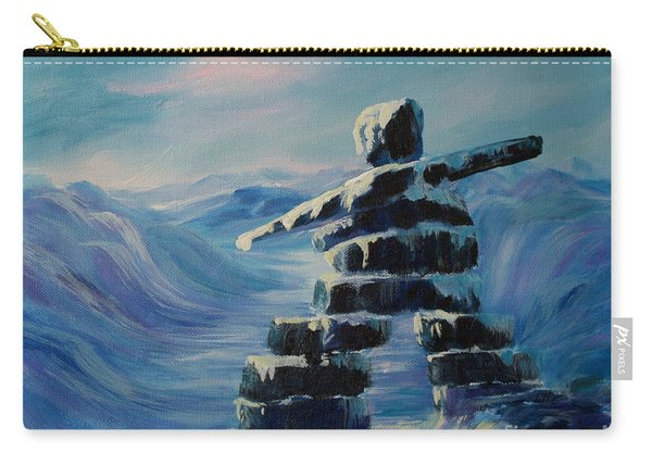 Inukshuk My Northern Compass Carry-all Pouch