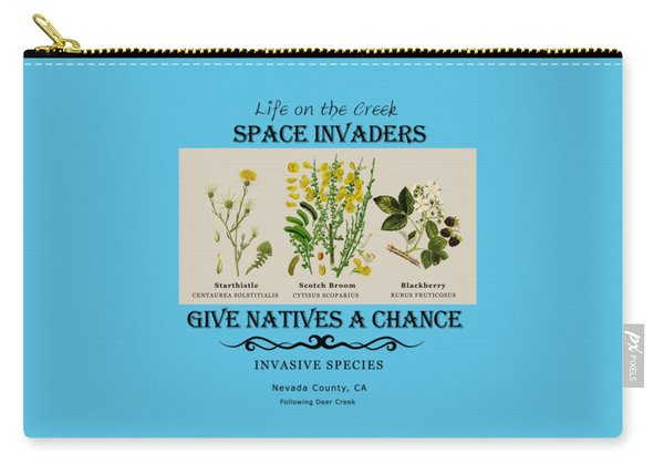 Invasive Species Nevada County, California Carry-all Pouch
