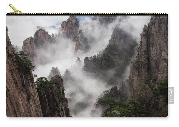 Invisible Hands Painting The Mountains. Carry-all Pouch