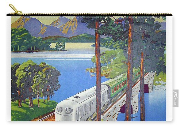 Ireland, Railway, Travel Poster Carry-all Pouch