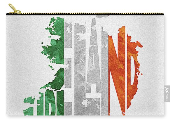 Ireland Typographic Map Flag Carry-all Pouch