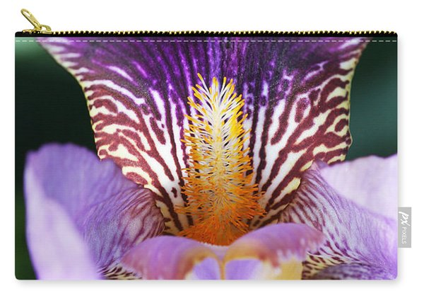Carry-all Pouch featuring the photograph Iris Close Up by William Selander