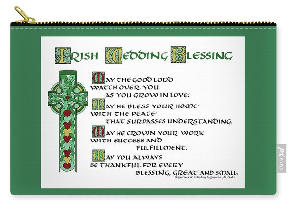 Irish Celtic Wedding Blessing Carry-all Pouch