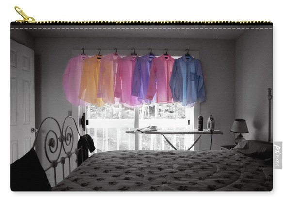 Ironing Adds Color To A Room Carry-all Pouch