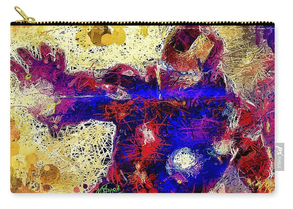 Carry-all Pouch featuring the mixed media Ironman  by Al Matra