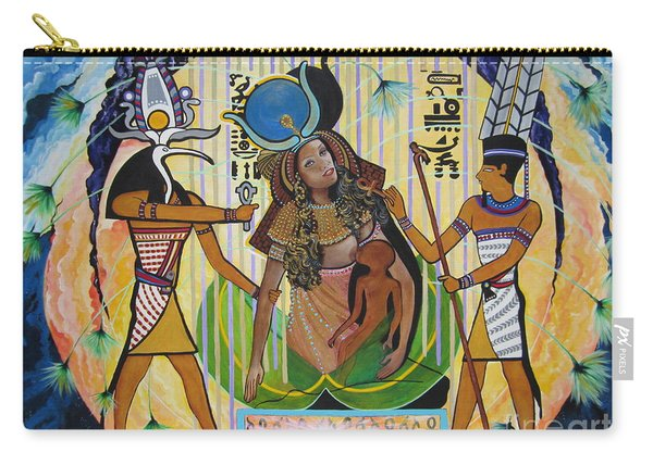 Blaa Kattproduksjoner     Presents Isis Giving Birth To Horus Carry-all Pouch