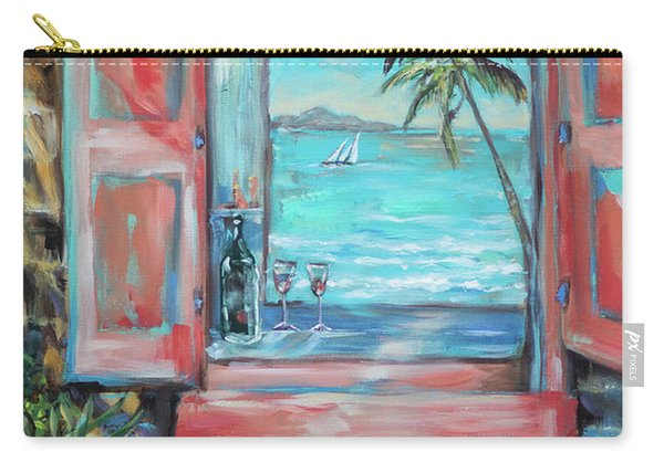Island Bar Coral Carry-all Pouch