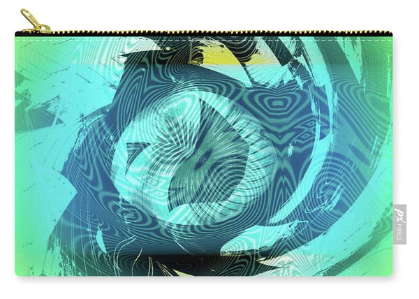 Carry-all Pouch featuring the digital art Island Bay by Visual Artist Frank Bonilla