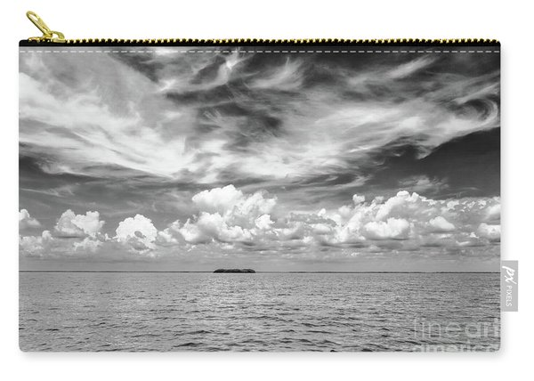 Island, Clouds, Sky, Water Carry-all Pouch