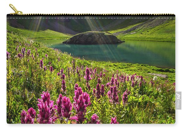 Island Lake Flowers Carry-all Pouch