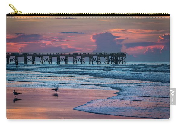 Carry-all Pouch featuring the photograph Isle Of Palms Morning by Donnie Whitaker
