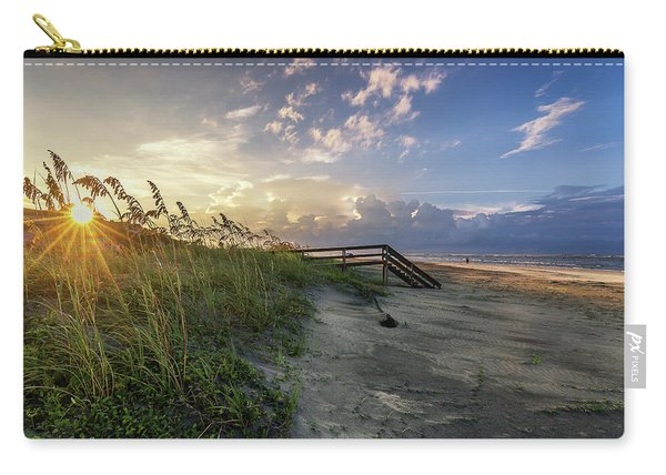 Carry-all Pouch featuring the photograph Isle Of Palms Sunstar by Donnie Whitaker