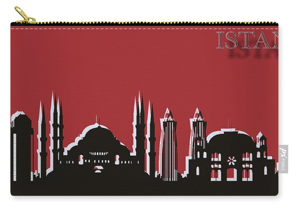 Istanbul Skyline Silhouette Pop Art Carry-all Pouch