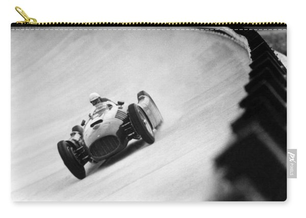 Italian Racing Driver Nino Farina Driving His Ferrari At Monza  Carry-all Pouch