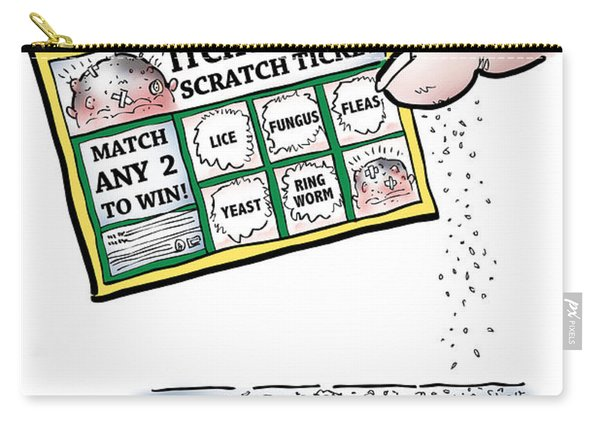 Itchy Scalp Scratch Ticket Carry-all Pouch