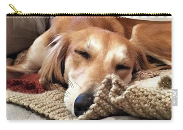 It's Been A Hard Day...  #saluki Carry-all Pouch