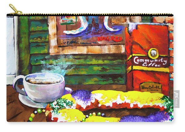 It's Mardi Gras Time Carry-all Pouch