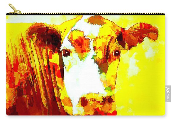 Yellow Cow Carry-all Pouch