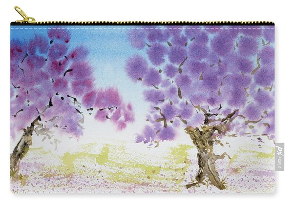 Jacaranda Trees Blooming In Buenos Aires, Argentina Carry-all Pouch
