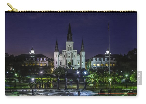 Jackson Square And St. Louis Cathedral At Dawn, New Orleans, Louisiana Carry-all Pouch
