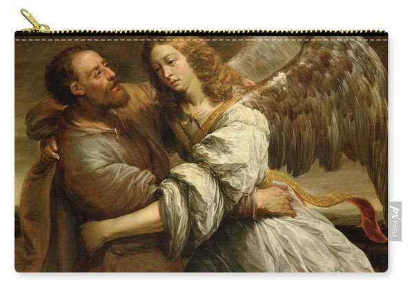 Jacob Fighting The Angel Carry-all Pouch