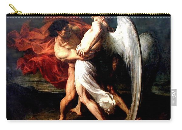 Jacob Wrestling With The Angel Carry-all Pouch