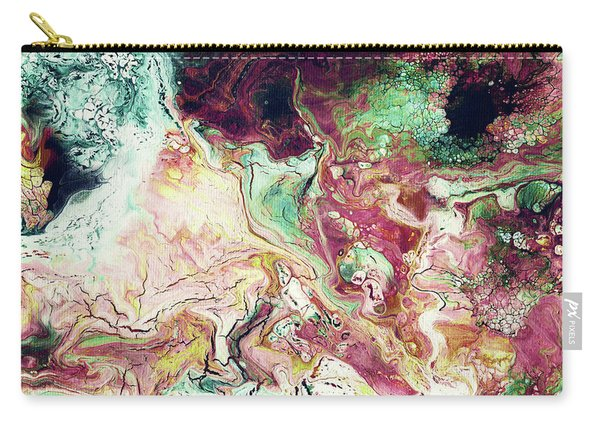 Jade Rhapsody - Abstract Art By Linda Woods Carry-all Pouch