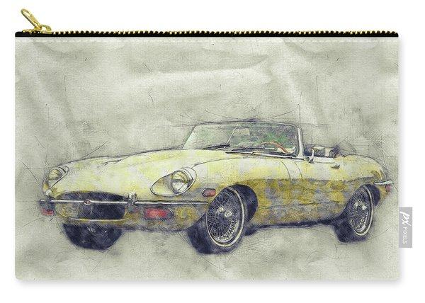 Jaguar E-type 1 - Jaguar Xk-e - Sports Car - Automotive Art - Car Posters Carry-all Pouch