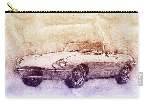 Jaguar E-type 2 - Jaguar Xk-e - Sports Car - Automotive Art - Car Posters Carry-all Pouch
