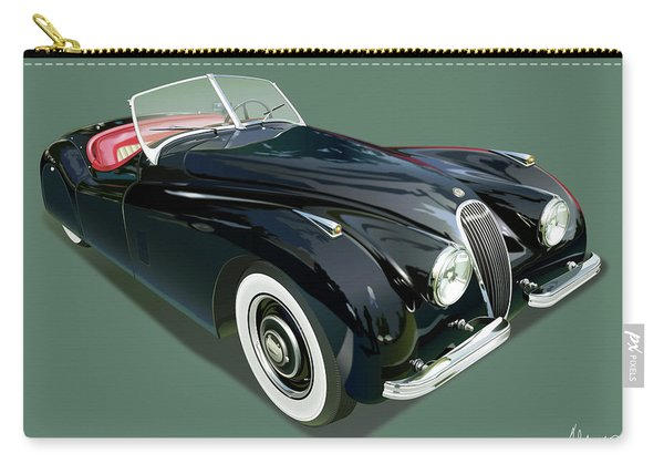 Jaguar Xk 120 Illustration Carry-all Pouch