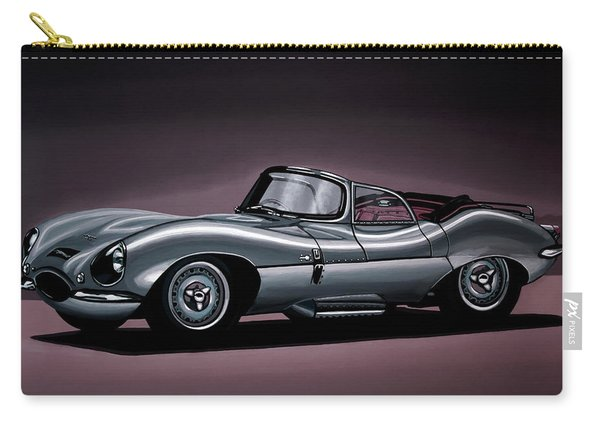 Jaguar Xkss 1957 Painting Carry-all Pouch
